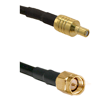 SSMB Male on LMR100 to SMA Reverse Thread Male Cable Assembly