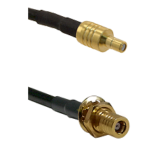 SSMB Male on LMR100 to SLB Female Bulkhead Cable Assembly