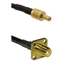 SSMB Male on LMR100 to SMA 4 Hole Female Cable Assembly