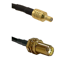 SSMB Male on LMR100 to SMA Female Bulkhead Cable Assembly