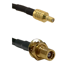 SSMB Male on LMR100 to SMB Female Bulkhead Cable Assembly