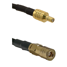 SSMB Male on LMR100 to SSLB Female Cable Assembly