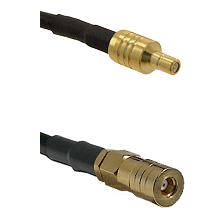 SSMB Male on LMR100/U to SSMB Female Cable Assembly