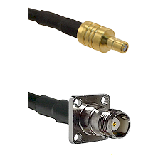 SSMB Male on LMR100 to TNC 4 Hole Female Cable Assembly