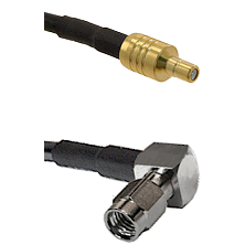 SSMB Male on RG188 to SSMA Right Angle Male Cable Assembly