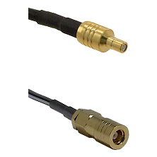 SSMB Male on RG188 to SLB Female Cable Assembly