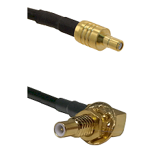 SSMB Male on RG188 to SLB Male Bulkhead Cable Assembly