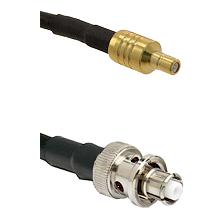 SSMB Male on RG58C/U to SHV Plug Cable Assembly