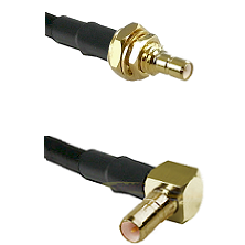 SSMB Male Bulkhead on Belden 83242 RG142 to SSMB Right Angle Male Cable Assembly