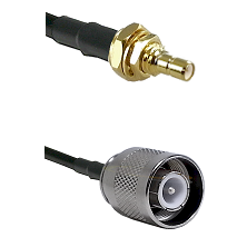 SSMB Male Bulkhead on Belden 83242 RG142 to SC Male Cable Assembly