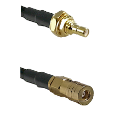 SSMB Male Bulkhead on Belden 83242 RG142 to SSMB Female Cable Assembly