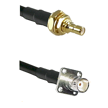 SSMB Male Bulkhead on LMR100 to BNC 4 Hole Female Cable Assembly