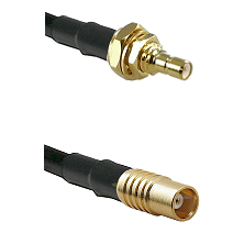 SSMB Male Bulkhead on LMR100 to MCX Female Cable Assembly