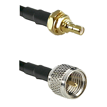 SSMB Male Bulkhead on LMR100 to Mini-UHF Male Cable Assembly
