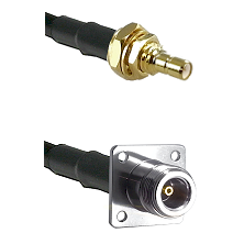 SSMB Male Bulkhead on LMR100 to N 4 Hole Female Cable Assembly