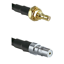 SSMB Male Bulkhead on LMR100 to QMA Female Cable Assembly