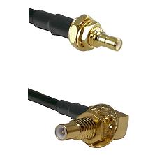 SSMB Male Bulkhead on RG188 to SLB Male Bulkhead Cable Assembly