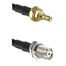 SSMB Male Bulkhead Connector On  RG316DS Double Shielded To Mini-UHF Female Connector Coaxial Cable