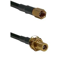 SSMC Female on Belden 83242 RG142 to SSMB Female Bulkhead Cable Assembly
