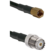 SSMC Female on LMR100 to Mini-UHF Female Cable Assembly
