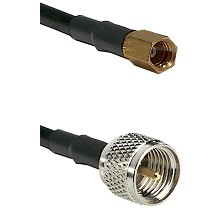 SSMC Female on LMR100 to Mini-UHF Male Cable Assembly