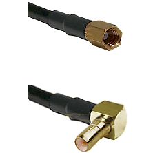 SSMC Female on RG223 to SSMB Right Angle Male Cable Assembly
