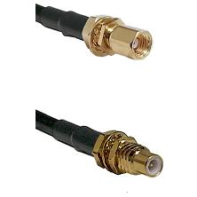 SSMC Female Bulkhead on Belden 83242 RG142 to SSMC Male Bulkhead Cable Assembly