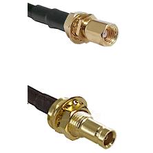 SSMC Female Bulkhead on LMR100 to 10/23 Female Bulkhead Cable Assembly