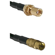 SSMC Female Bulkhead on LMR100 to MMCX Female Cable Assembly