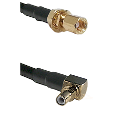 SSMC Female Bulkhead on RG188 to SSMC Right Angle Male Cable Assembly