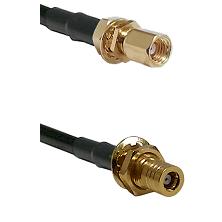 SSMC Female Bulkhead on RG188 to SSMB Female Bulkhead Cable Assembly