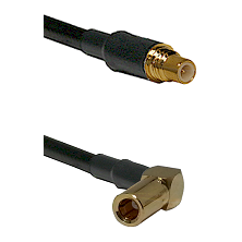 SSMC Male on Belden 83242 RG142 to SSMB Right Angle Female Cable Assembly