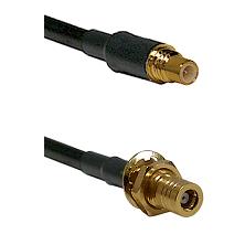 SSMC Male on Belden 83242 RG142 to SSMB Female Bulkhead Cable Assembly
