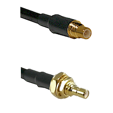 SSMC Male on Belden 83242 RG142 to SSMB Male Bulkhead Cable Assembly