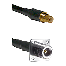 SSMC Male on LMR200 to N 4 Hole Female Cable Assembly