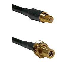 SSMC Male on RG188 to SSMB Female Bulkhead Cable Assembly