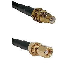 SSMC Male Bulkhead on LMR100 to SMC Female Bulkhead Cable Assembly