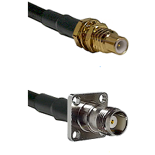 SSMC Male Bulkhead on LMR100 to TNC 4 Hole Female Cable Assembly
