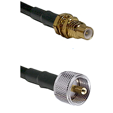SSMC Male Bulkhead on LMR100 to UHF Male Cable Assembly