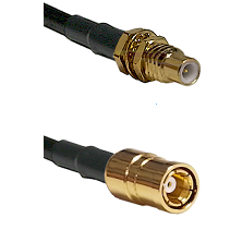 SSMC Male Bulkhead Connector On RG316DS Double Shielded To SMB Female Connector Coaxial Cable Assem