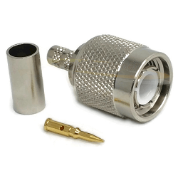 TNC Straight Male for LMR200 Crimp 50ohm DC-12.4GHz Brass Nickel Connector