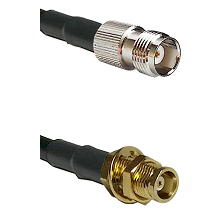 TNC Female on LMR100 to MCX Female Bulkhead Cable Assembly