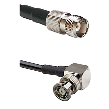 TNC Female on LMR-195-UF UltraFlex to BNC Reverse Polarity Right Angle Male Cable Assembly