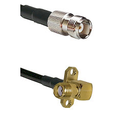 TNC Female on LMR-195-UF UltraFlex to SMA 2 Hole Right Angle Female Cable Assembly