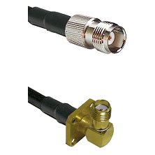 TNC Female on LMR-195-UF UltraFlex to SMA 4 Hole Right Angle Female Cable Assembly