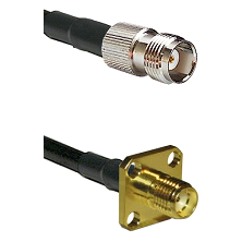 TNC Female on LMR-195-UF UltraFlex to SMA 4 Hole Female Cable Assembly