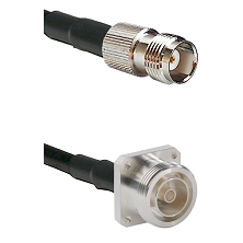TNC Female Connector On LMR-240UF UltraFlex To 7/16 4 Hole Female Connector Cable Assembly