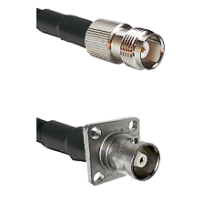 TNC Female Connector On LMR-240UF UltraFlex To C 4 Hole Female Connector Cable Assembly
