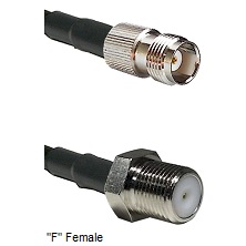 TNC Female Connector On LMR-240UF UltraFlex To F Female Connector Cable Assembly
