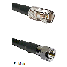 TNC Female Connector On LMR-240UF UltraFlex To F Male Connector Cable Assembly